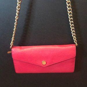 Michael Kors leather pink wallet crossbody